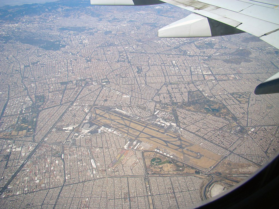 Aerial View of Mexico City Airport on 3.21.11