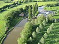 Aerial view from Paramotor of Appleton Lock - geograph.org.uk - 305597.jpg