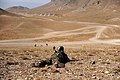 Afghan National Army trainee guards the range during a training exercise at the Kabul Military Training Center.jpg