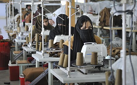 Afghan women at a textile factory in Kabul Afghan women at a textile factory in Kabul.jpg