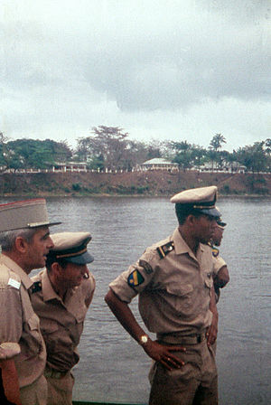 1964 Gabon coup d'état - Gabonese and French military officers, 1959
