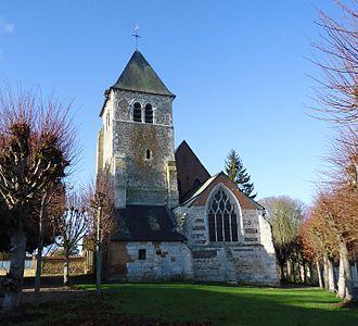 Ailly, Eure - Image: Ailly Eglise Saint Médard XI Ie, XV Ie & XVI Ie (Part. ISMH)