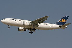 Iran Air Tours - A former Iran Air Tours Airbus A300 on approach to land at Dubai International Airport in 2008