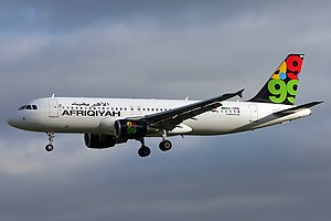 Afriqiyah Airways Flight 209 - The aircraft involved in the incident, photographed in 2007