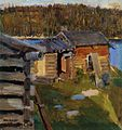 Akseli Gallen-Kallela, the ekola croft in evening sunlight 1889 (19589050564).jpg