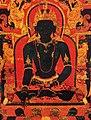 Akshobhya detail, 'The Dhyani Buddha Akshobhya', Tibetan thangka, late 13th century, Honolulu Academy of Arts (cropped).jpg
