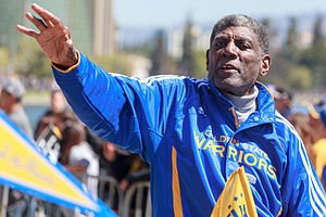 Al Attles - Attles at the Golden State Warriors Victory Parade on 19 June 2015