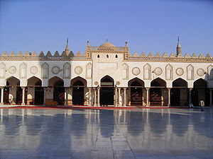 Islam in Egypt - Al-Azhar Mosque in Cairo, Egypt.