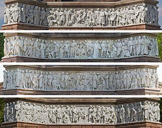 Frieze of Parnassus - Image: Albert Memorial Friese Collage May 2008 edit 1