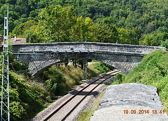 Albiès - Albiès railway bridge