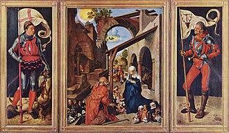 Paumgartner altarpiece - Paumgartner altarpiece, oil on wood, 157 cm × 248 cm. Alte Pinakothek, Munich