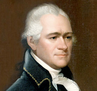Gerry supported economic policies of Federalist Alexander Hamilton (portrait by Ezra Ames). Alexander Hamilton portrait by Ezra Ames-cropped.jpg