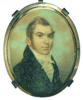 Alexander McGillivray - This is an unconfirmed portrait of Lachlan McGillivray, father to Alexander, contained in a silver locket.