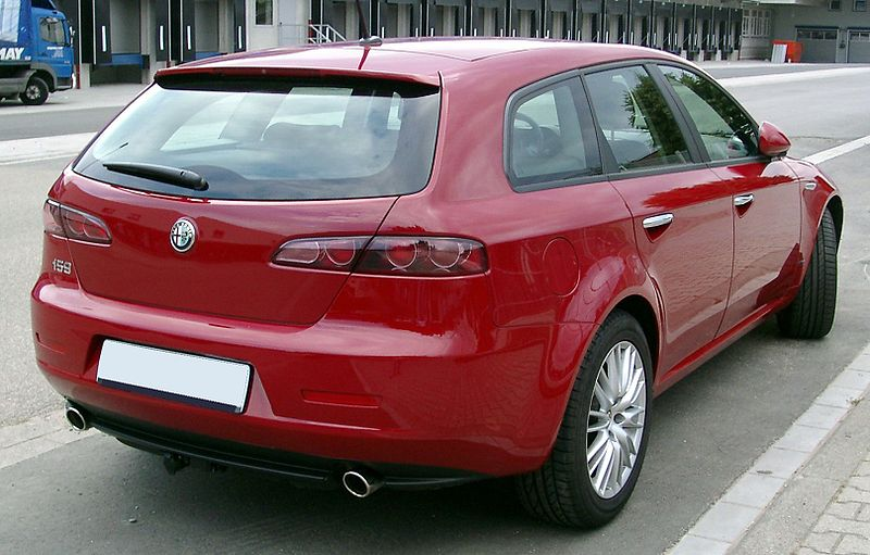 file alfa romeo 159 sw rear wikimedia commons. Black Bedroom Furniture Sets. Home Design Ideas
