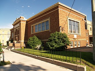 National Register of Historic Places listings in Stutsman County, North Dakota - Image: Alfred E. Dickey Free Library 2