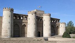 La Aljafería, palacio de los gobernantes musulmanes de Zaragoza.