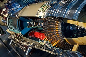 Allison T56 - Allison T56-A1 turboprop engine cutaway, at the Smithsonian National Air and Space Museum