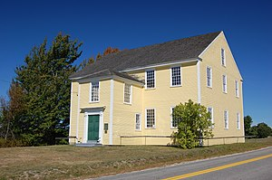 Alna, Maine - Alna Meeting House, built in 1789