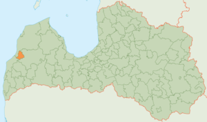 Alsunga Municipality - Image: Alsungas novads karte