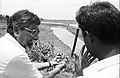 Amalendu Roy Discusses About Water Barrier - Science City Site - Dhapa - Calcutta 1993-June 624.JPG