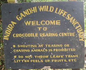 Amaravathi Dam - Crocodile Rearing Center