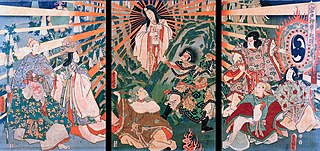 Amaterasu goddess of the sun in the Shinto faith