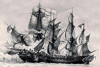 Action of 14 December 1798 - Image: Ambuscade vs Bayonnaise Roux