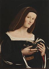 Female Saint Holding a Book