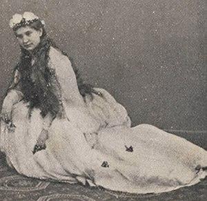 Amleto - Angiolina Ortolani-Tiberini as Ofelia (1865)