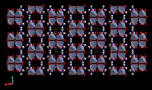 Ammonium dichromate - Image: Ammonium dichromate xtal 2007 CM 3D balls