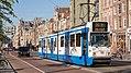 Amsterdam Damrak tram 822 naar Centraal Station (37145364323).jpg