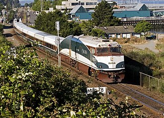 Amtrak Cascades - The Cascades near Edmonds, Washington in 2006