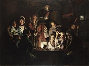 An Experiment on a Bird in an Air Pump, from 1768, by Joseph Wright.