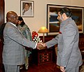 Anand Sharma meeting the UN under Secretary General and Executive Secretary of the Economic Commission for Africa, Mr. Abdoulie Jenneh, in New Delhi on February 07, 2009.jpg