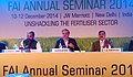 Ananthkumar delivering his inaugural address at the Fertilizer Association of India annual seminar on 'Unshackling the Fertilizer Sector', in New Delhi. The Minister of State for Chemicals & Fertilizers.jpg