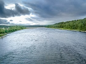 Anarjohka river, NorwayFinland border.jpg