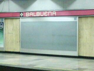 Metro Balbuena metro station in Mexico City