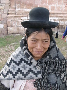 Andean woman in village between Cuzco and Puno Peru.jpg