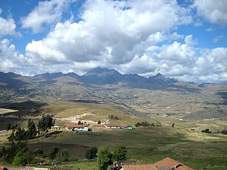 Huamachuco - View of the nearby Andes and farmland