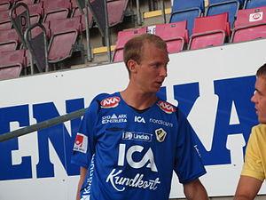 Andreas Johansson (footballer, born 1982) - Johansson wearing the Halmstad BK shirt in 2008.