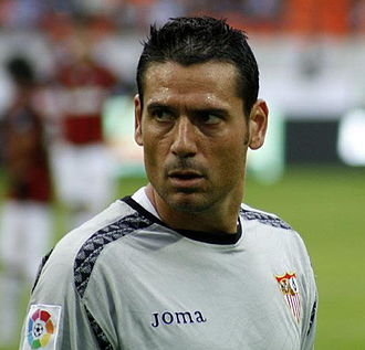 Andrés Palop - Palop playing for Sevilla in 2008