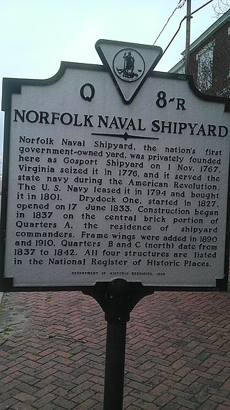 Andrew Sprowle - Founded by Andrew Sprowle in 1767, Gosport Navy Yard is known today as Norfolk Naval Shipyard.