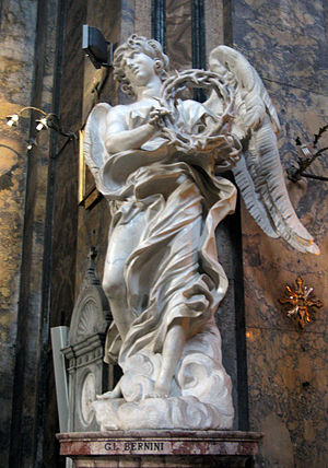 Sant'Andrea delle Fratte - Image: Angel with the Crown of Thorns by Bernini