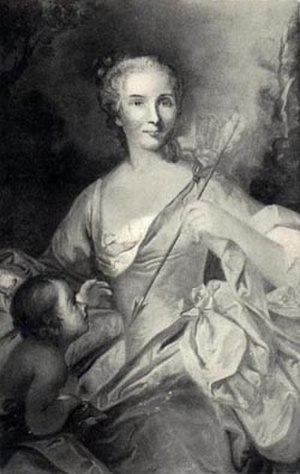 René-Louis Chartier de Lotbinière - René-Louis's well-known granddaughter, Angelique-Genevieve Renaud d'Avène des Méloizes (1722-1792), c.1754