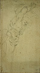 Sketch of a caryatid