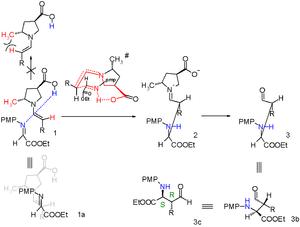 Mannich reaction - Scheme 6. Asymmetric syn-Mannich reactions ref. Mitsumori (2006)