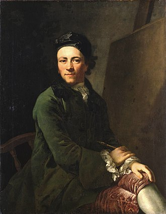 Anton Graff - With the arrival of this self-portrait (1765) on 16 January 1766, in Dresden, Graff's career as one of the most famous portrait artists of the Neoclassicism began