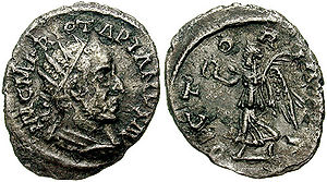 Jotapianus - Jotapianus coin. His coins are the only source for his names, M. F. RV., which could be expanded as Marcus Fulvius Rufus.