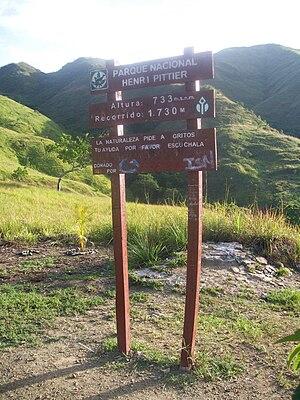 Henri Pittier National Park - Entrance to Henri Pittier National Park west of the Hotel Maracay.