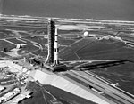 Apollo 11 Saturn V near the end of rollout.jpg